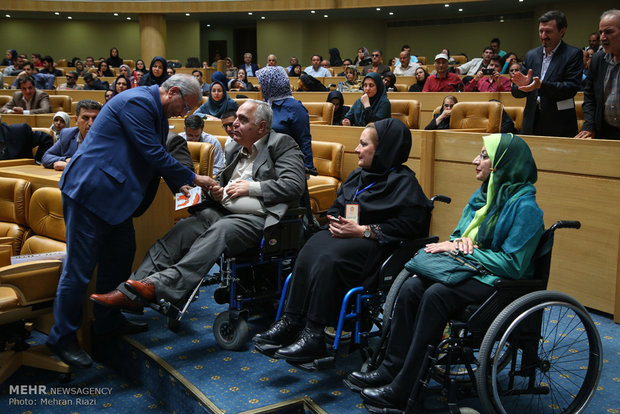 جشن ملی و مراسم تجلیل از دست اندرکاران تدوین قانون حمایت از معلولین