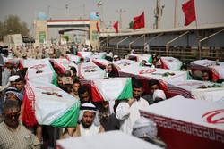 پیکرهای ۷۲ شهید دفاع مقدس وارد کشور شد