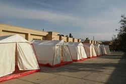 برپایی چادر برای زلزله زدگان