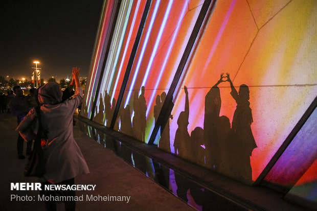 Video mapping at Tehran's Azadi Tower