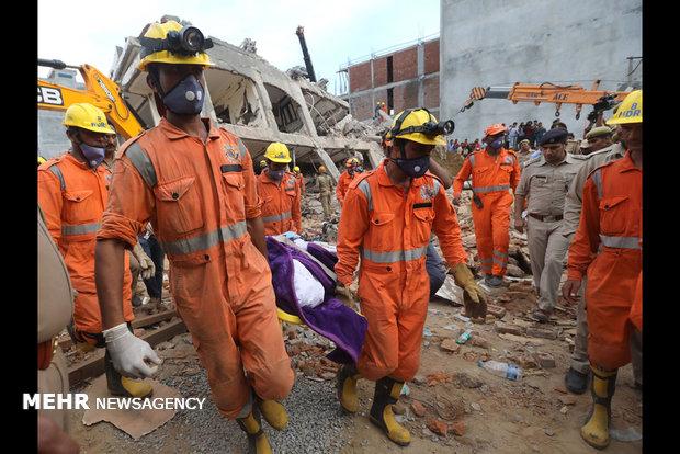 بھارت میں عمارت گرنے سے ہلاکتوں کی تعداد 14 ہوگئی