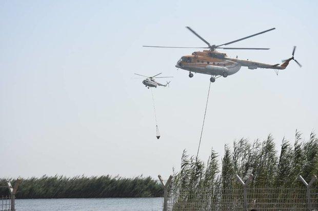 ايران تبدأ عمليات إخماد حريق هور العظيم داخل الأراضي العراقية