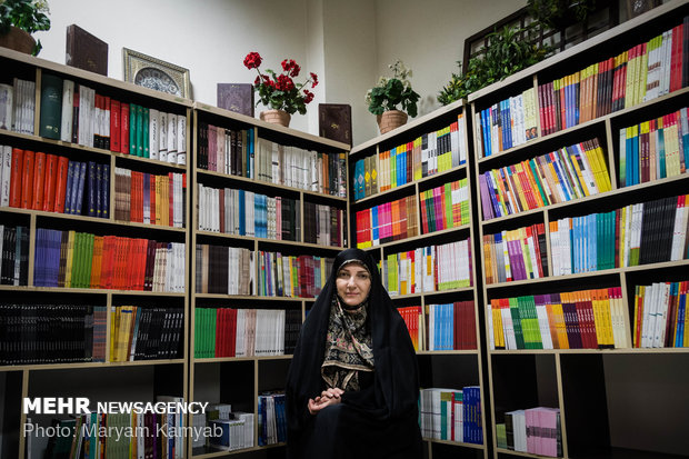 مریم جدلی رئیس هیئت مدیره انجمن زنان ناشر و مدیر نشر نغمه نواندیش