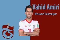 İranlı futbolcu Vahid Amiri Tranzonspor'da