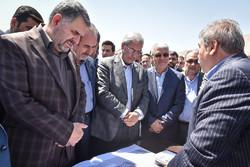 کلنگ زنی بیمارستان تامین اجتماعی شیراز با حضور وزیر کار