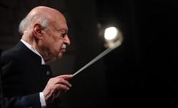 Maestro Farhad Fakhreddini conducts an orchestra in an undated photo.
