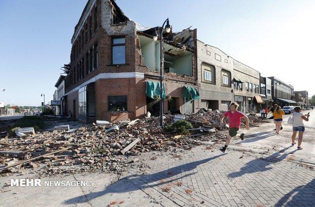 خسارات طوفان در آیوای آمریکا