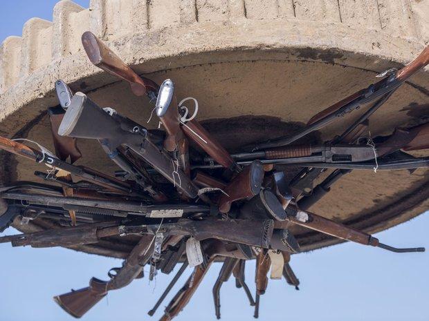 ذوب سلاح های توقیف شده در آمریکا