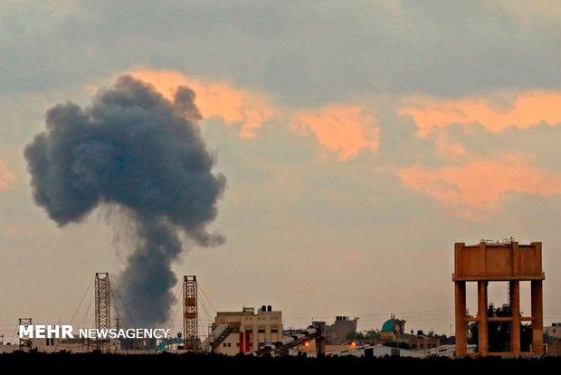 استشهاد شابين فلسطينين في غارة للعدو الصهيوني شمال غزة