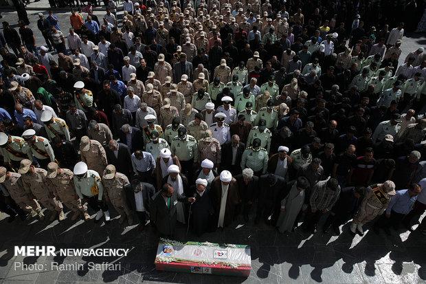 تشييع شهداء الاعتداء الارهابي في مدينة مريوان الحدودية