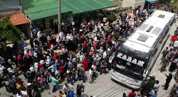 2nd batch of al-Fu'ah & Kafriya locals arrive in Lattakia city