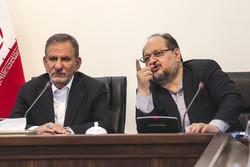 إجتماع لجنة قيادة الاقتصاد المقاوم بحضور جهانغيري / مصور