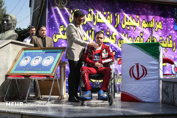 Iranian young wrestlers honored in Tehran
