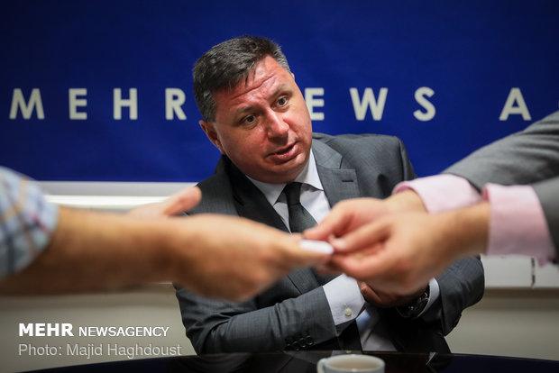 زيارة السفير البلغاري لدى إيران لوكالة مهر