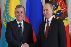 گفتگوی تلفنی پوتین و همتای ازبکستانی