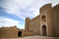 A view of the historical Arg-e Rayen in Kerman province
