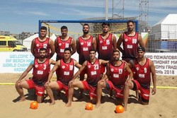 Iran finishes 8th at Beach Handball World C'ships