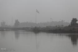 دود هورالعظیم هوای آبادان و خرمشهر را آلوده کرد