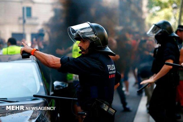 اسپین میں علیحدگی پسندوں کی پولیس سے جھڑپیں، 22 افراد گرفتار