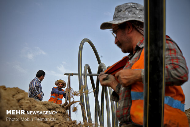 مد خطوط الغاز الى قرى محافظة كرمانشاه