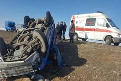 حوادث جادهای در محورهای ساوه یک کشته و ۱۱مصدوم برجای گذاشت