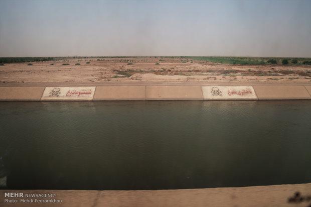 بازدید استاندار خوزستان از طرح های مقابله با ریزگردها