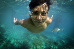 Hürmüzgan pınarlarında yüzme keyfi