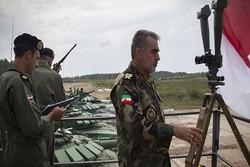 """İranlı askerler Rusya'daki """"Tank Biatlon-2018"""" yarışmasında"""