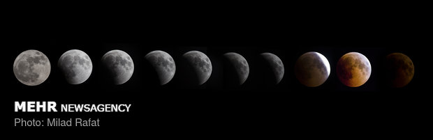 طولانی ترین ماه گرفتگی قرن - بوشهر - میلاد رفعت