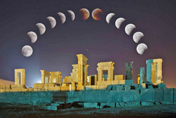 Lunar eclipse seen in Persepolis