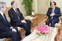 دیدار رئیس جمهور مصر با رئیس کنگره صهیونیستی یهودیان