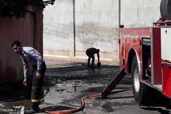 آتش سوزی در سوله ۵۰۰ متری جنوب تهران/کسی مصدوم نشد