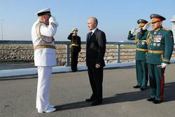 برگزاری روز نیروی دریایی روسیه در حضور پوتین