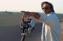 "Reza Mirkarimi directs a scene from ""So Close, So Far""."