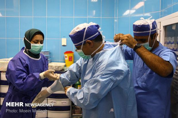 """عمليات جراحة القب المفتوحة في محافظة """"كلستان"""" شمالي ايران"""