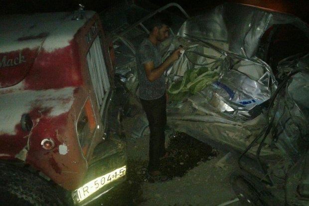تصادف در محور پارس آباد -مشگین شهر ۵کشته و مصدوم برجای گذاشت