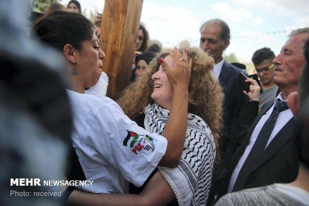 آزادی مبارز فلسطینی از زندان اسرائیل