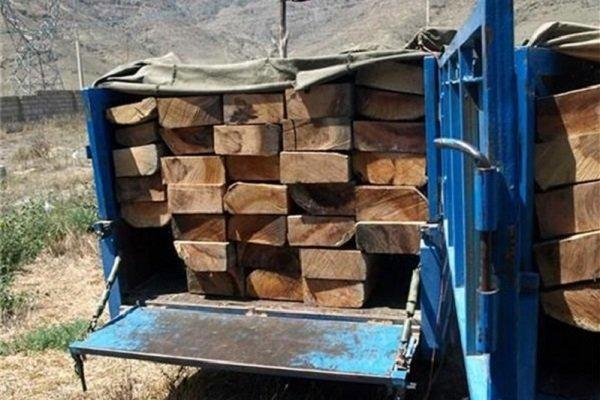 چوب آلات قاچاق در عباس آباد کشف شد