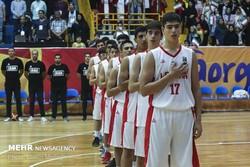 Iran's U16 basketball team
