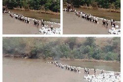 بستن رودخانه در خوزستان