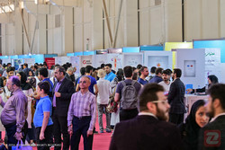 Visitors attend 24th Iran International Exhibition of Electronics, Computer & E-commerce (ELECOMP 2018) which was held from July 26-31
