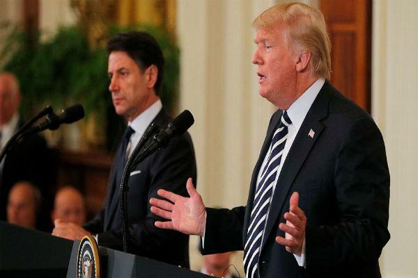 امریکی صدر اور اطالوی وزیراعظم کا مہاجرین کے خلاف سخت اقدامات پر اتفاق