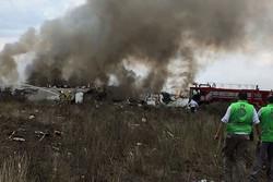 فلم/میکسیکو میں طیارہ گرنے کی پہلی تصویریں