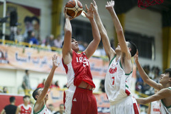 Iran vs. Lebanon at WABA U16 C'ships