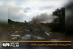 نخستین ویدئو از سقوط هواپیمای مسافربری در مکزیک