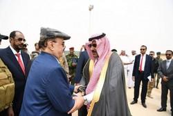 جنجال استقبال سفیر عربستان از عبدربه منصور هادی در خاک یمن!