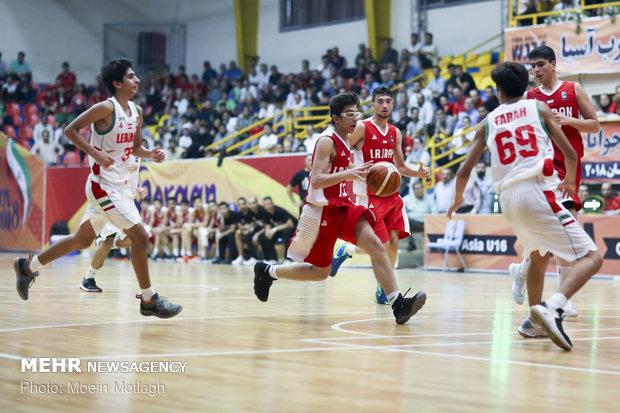 دیدار تیمهای بسکتبال نوجوانان ایران و لبنان