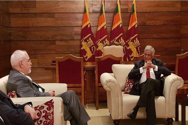 ظريف يلتقي برئيس الوزراء السريلانكي