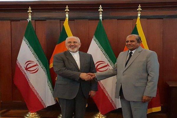ایرانی وزير خارجہ کی سری لنکا کے وزير خارجہ سے ملاقات