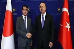 وزرای خارجه ترکیه و ژاپن دیدار کردند